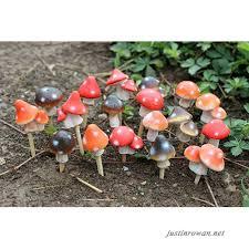 miniature fairy garden mushrooms