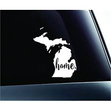 Exterior Accessories Nudge Printing Hitchhiking To Michigan Bear Vinyl Car Decal Bumper Sticker Bumper Stickers Decals Magnets