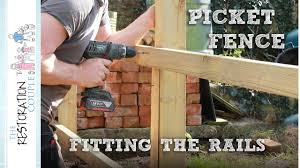 Building A Picket Fence Fitting The Rails Youtube