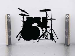 Drum Set Drum Art Drum Wall Art Drum Decal Snare Cymbals Bass Wall Decal Music Decal Sticke Peintre