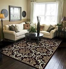 com modern area rugs black 5x8
