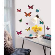 Roommates Butterfly 3 D Wall Decal Acc0003b3d The Home Depot