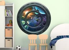 Space Station Window Wall Decal Set