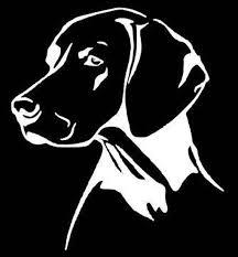 Vizsla Car Decal Lab Decal Dog Car Decal Pet Car Decal Etsy