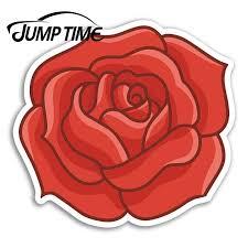 Jump Time Red Rose Vinyl Stickers Flower Garden Sticker Laptop Luggage Car Assessoires Window Decals Car Wrap Diy Car Stickers Aliexpress
