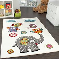 Children S Room Rug Cute Colourful Zoo Animals Owls And Elephants Multicoloured Size 80x150 Cm Paco Home Http Kids Rugs Childrens Room Rugs Childrens Rugs