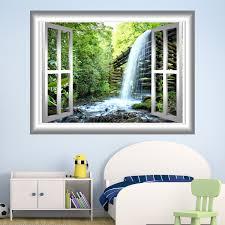 Vwaq Waterfalls Wall Sticker 3d Window Decal Peel And Stick Art Nw28