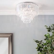 paladina flush ceiling light chrome bhs