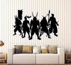 Amazon Com Amazing Home Decor Large Vinyl Wall Decal Samurai Warriors Japan Art Japanese Stickers Large Decor 623 Made In The Usa Removable Home Kitchen
