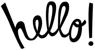 Hello! Black & White Clip-Art. PNG. The best greeting card for You.