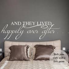 And They Lived Happily Ever After Wall Decal In 2020 Wall Vinyl Decor Headboard Decal Headboard Wall Decal