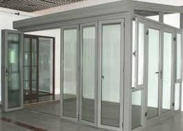 aluminum glass door section at best