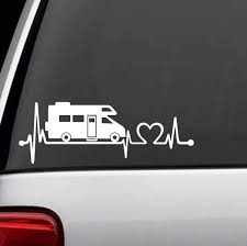 Amazon Com Bluegrass Decals K1152 Rv Recreational Vehicle C Heartbeat Lifeline Decal Sticker Automotive