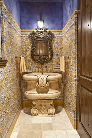 powder room also accent tile