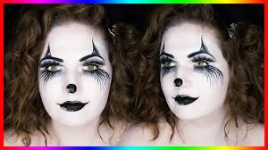 black white clown costume makeup for