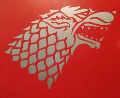 Game Of Thrones Inspired Stark Wolf Direwolf House Sigil Vinyl Decal F Ftw Custom Vinyl