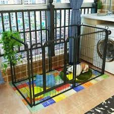 6 Panel Fence Foldable Pet Play Pen Puppy Dog Animal Cage Run Exercise Playpen Ebay