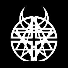 Disturbed Pentagram Horns Logo Vinyl Decal Sticker