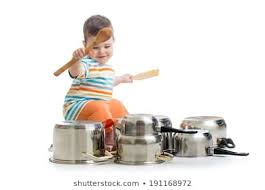 Baby Playing Utensils Images, Stock Photos & Vectors | Shutterstock