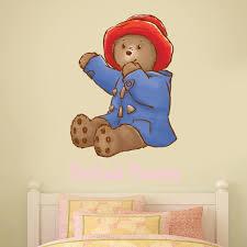 Baby Paddington Bear Personalised Name Wall Sticker Pink Etsy
