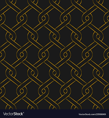 Golden Woven Fence Seamless Pattern Gold Color Vector Image