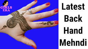 simple back hand mehndi design