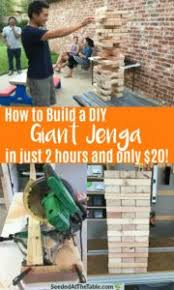build a diy giant jenga yard game