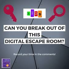 Hey Kids Can You Complete This Library Lock In Digital Escape Room Irondequoit Public Library