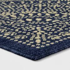 geometric woven novelty area rug navy