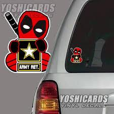 Us Retired Veteran Army Deadpool Inspired Car Laptop Vinyl Etsy