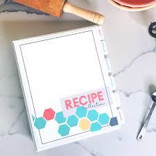 recipe collection binder printable kit