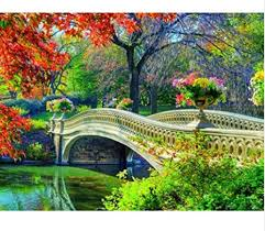 5d diy diamond painting park bridge