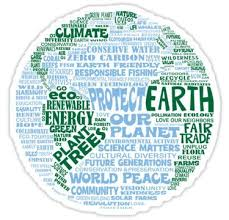 Protect Earth Blue Green Words For Earth Sticker In 2020 Earth Day Quotes Save Earth Earth