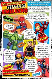 Kikita Manualidades Invitacion Superheroes Invitaciones