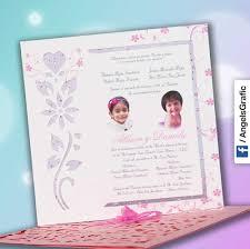 Tarjeta De Invitacion Para Bautizo Bz 46545 Angels Graphic