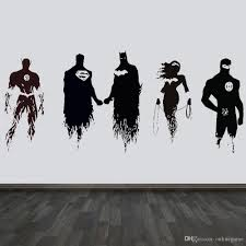 Movie Justice League Batman Superman Hero Decal Wall Art Sticker Picture Car Comic Vinyl Removable Home Decor Mural Batman Buy Wall Decal Buy Wall Decals From Onlinegame 11 67 Dhgate Com