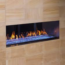 ventless linear fireplace