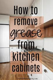 removing grease from kitchen cabinets