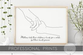 Holding Hands Line Drawing Art For Parents Family Image Etsy