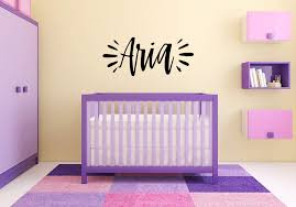 Amazon Com Vinyl Sticker Aria Name Girl Font Type Kids Room Nursery Mural Decal Wall Art Decor Eh534 Handmade