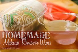 homemade makeup remover wipes recipe