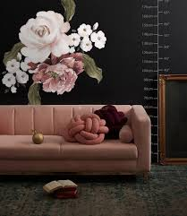 Pink Rose Red Peony Floral Bouqet Wall Decal Sticker Wall Decals Wallmur