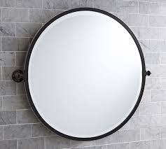 kensington pivot round wall mirror