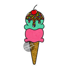 Ice Cream Cone Car Window Decal Bumper Sticker Ice Cream Scoop Etsy