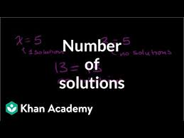 number of solutions to equations