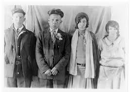 Photograph of Alex Kakapshe, Cecelia Jordan, Peter Robinson, and Ida Jordan  Greenbird   Algoma University Archives