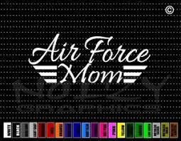 Air Force Mom 3 Military Proud Family Cute Dad Car Decal Window Vinyl Sticker Ebay