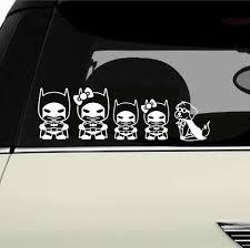 Batman Woman Chibi Stick Family Vinyl Decals Azvinylworks