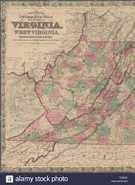 Colton's new topographical map of the states of Virginia, West Virginia,  Maryland & Delaware and portions of other adjoining states. G.W. & C.B  Stock Photo - Alamy