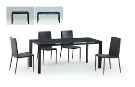 carbon glass top extension dining table